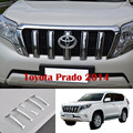 6PCS Chrome Front Grille Cover Trims For Toyota Land Cruiser Prado FJ 150