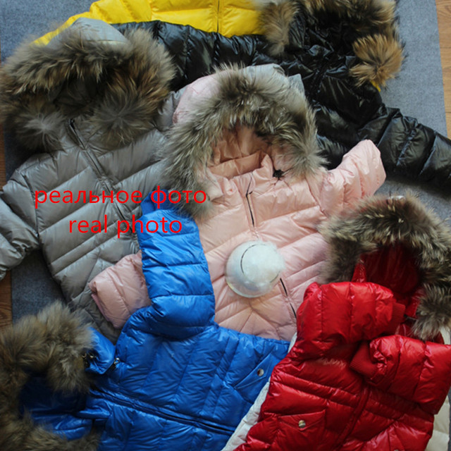 -30 Russian Winter Snowsuit 2019 Boy Baby Jacket 80% Duck Down Outdoor Infant Clothes Girls Climbing For Boys Kids Jumpsuit 2~5y 4