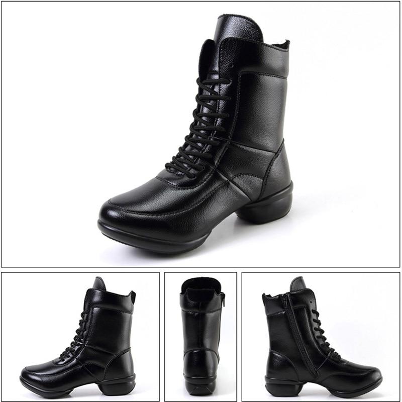 Botas Negro Cuadrado Xz65 De Estrenar Mujer A Invierno Las Del Para Zapatos Genuino Mujeres Casuales Cuero Cortas Tacón Baile vww6gUTxq