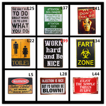 Toilet Fart Zone Metal Tin Signs Home Decor Painting Plaques Art Poster