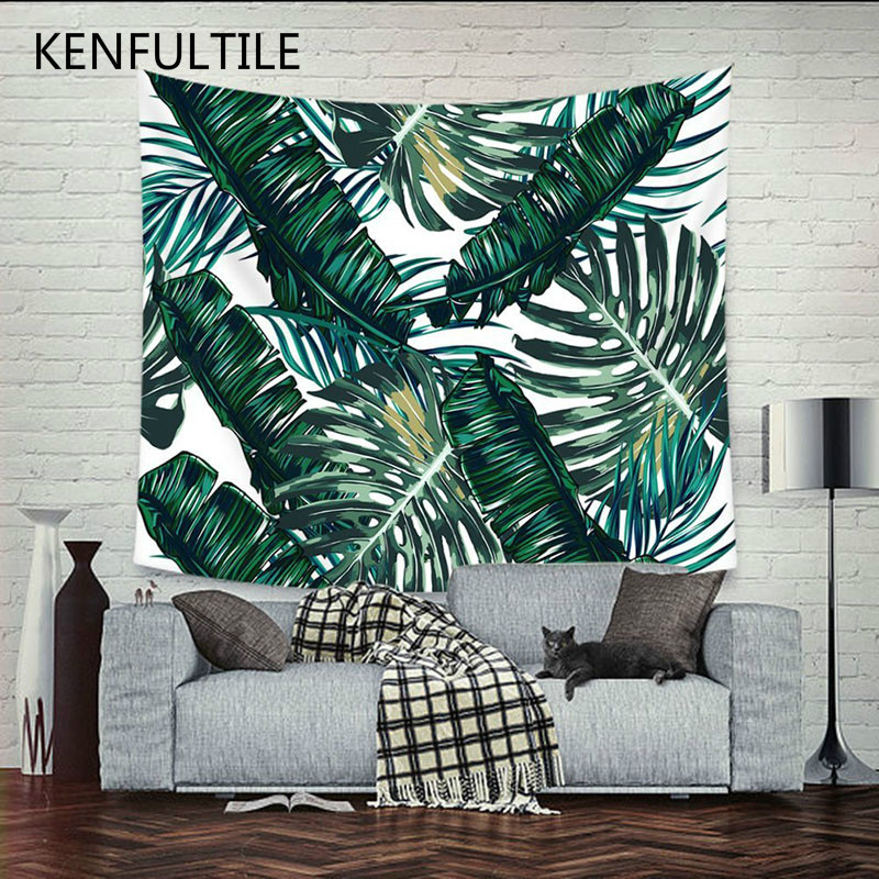 Home Decor Large Wall Hanging Blanket Art Tapestry Bohemian Boho Indian Plant Forest Leaves Flamingo Carpet Tapestry 200x150cm Batteries Replacement Batteries