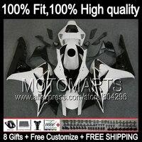 Комбинезоны для Honda CBR1000RR 06 07 CBR1000 RR черный белый 39JK9 CBR 1000RR 1000 RR 06 07 2006 2007 инъекции обтекателя Белый BLK