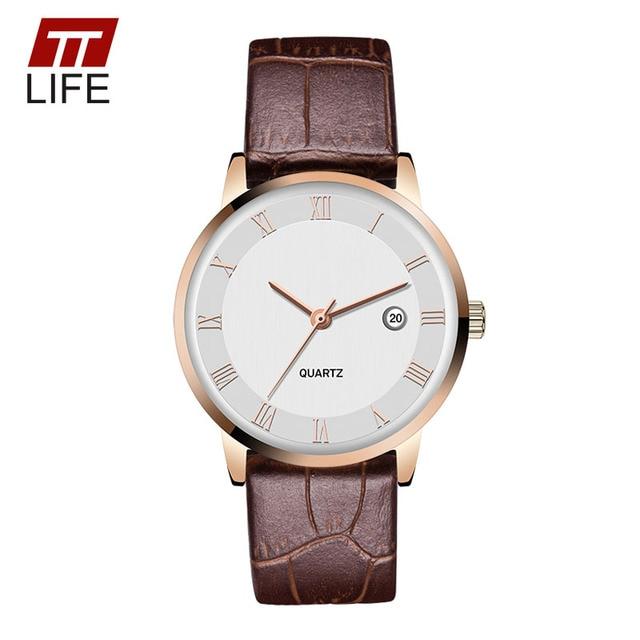 TTlife Cuarzo del amante Relojes Delgado 7mm Relojes de Los Hombres de Los Hombres de Negocios de Cuarzo Relojes de Lujo 30 M Impermeable Reloj reloj 2016 Nuevo