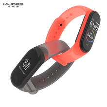 цена на Mijobs Mi Band 4 3 Strap Bracelet Sport Watch Silicone Wrist Strap Accessories Miband 4 3 Wristband for Xiaomi Mi Band 4 3