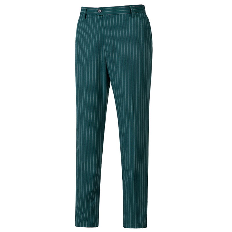 Men's trousers men's fashion green striped suit pants men's dance party suit trousers men's business formal trousers custom