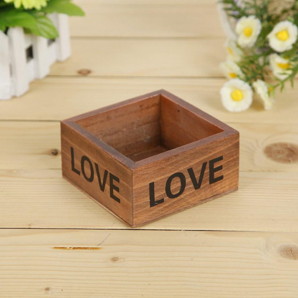 neue dekorative blumenvase rechteck box holz blumentopf dekorative