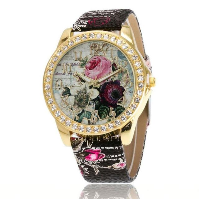 אופנה עלה דפוס ווג טמפרמנט פשוט מזכרות יום הולדת מתנות נשים של שעון יפה גבירותיי שעוני יד 2018 # D