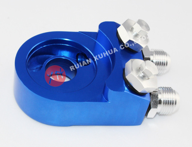 Universal auto oil sandwich adapter / fuel sender adapter for oil cooler red