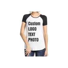 Индивидуальная женская футболка с принтом логотипа/текста/фотографии
