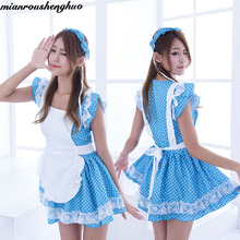 Cartoon underwear and sexy cosplay cafe restaurant waiter clothing maid apron lace #5013