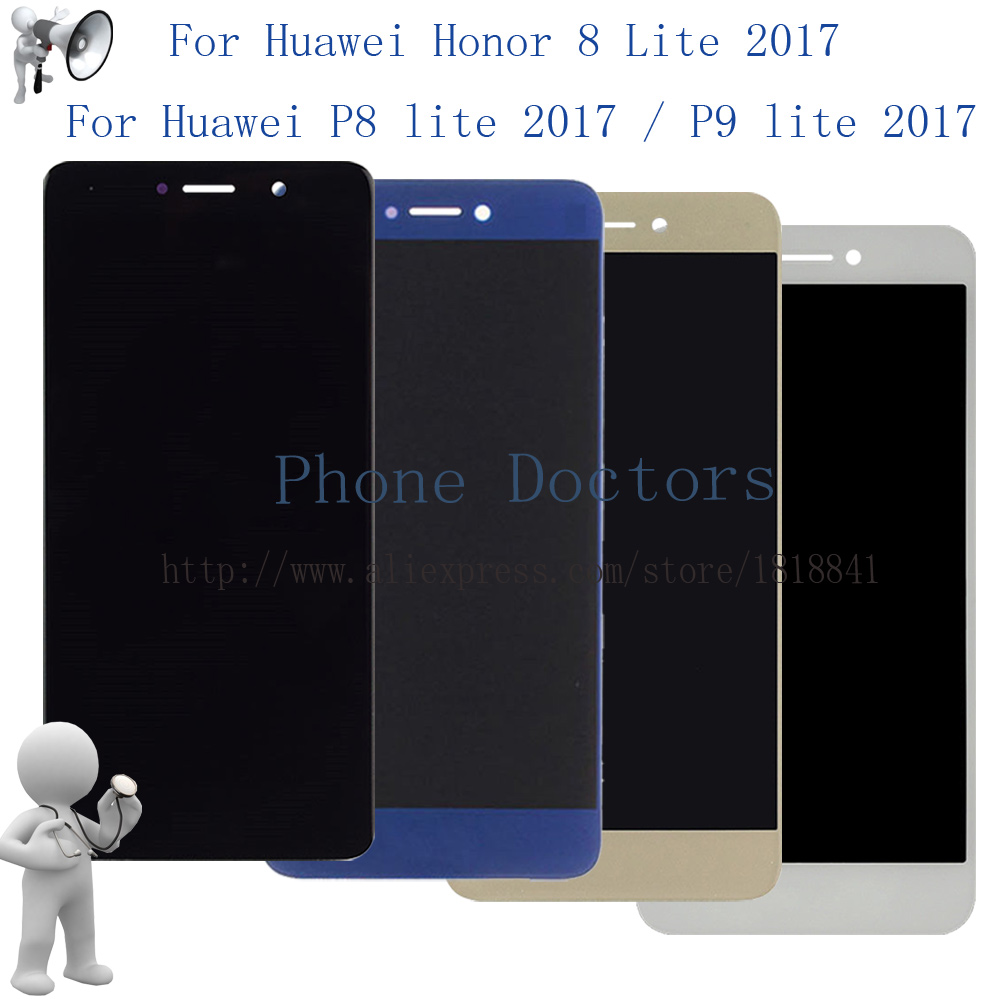 For <font><b>Huawei</b></font> honor 8 lite WAS-LX1A / P8 lite <font><b>2017</b></font> / P9 lite <font><b>2017</b></font> PRA-LA1 PRA-LX1 PRA-LX3 LCD Display Touch <font><b>Screen</b></font> Digitizer image