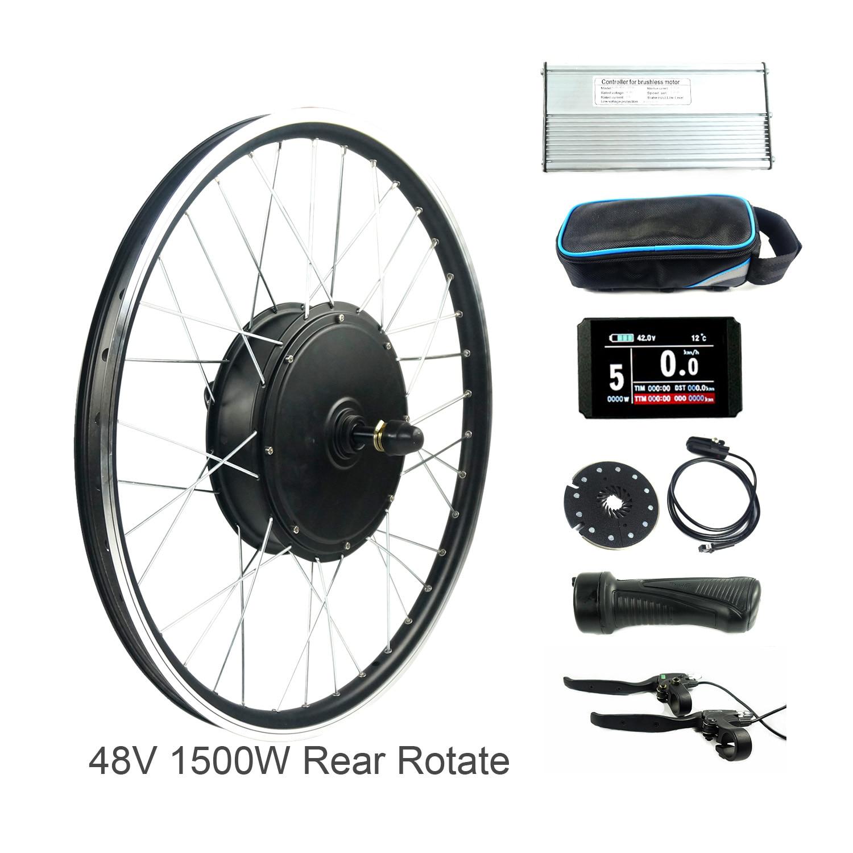 Bollfit 48V 1500W Electric bike conversion kit for 26 28 700c mxus hub motor kt display lcd3 lcd8 with usb