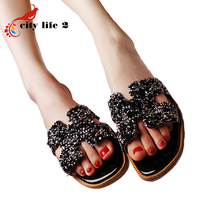 Sequins Summer Shoes font b Women b font Flat Sandals Fashion Paillette Slippers Zapatos Mujer