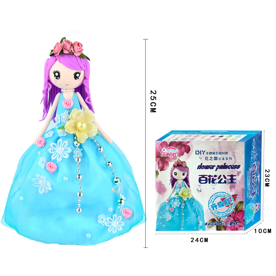 Slime Toys Set Fluffy Floam Clay Stress Relief Handwork Education Craft Slime Doll Western Princess For Girl DIY Colorful Slime