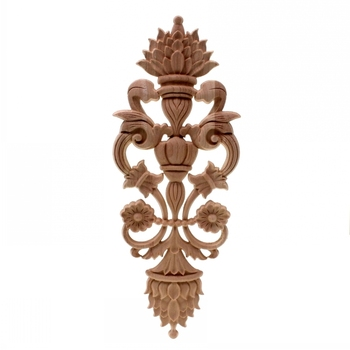 Solid wood European Style Woodcarving Decal Home Furniture Carved Applique Window Door Decor Wooden Figurines Crafts 1