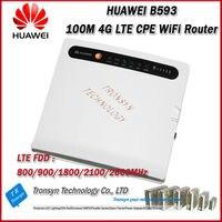 En gros D'origine Déverrouiller 100 Mbps HUAWEI B593 4G LTE CPE Sans Fil routeur Avec Sim Card Slot Soutien B1 B3 B7 B8 B20
