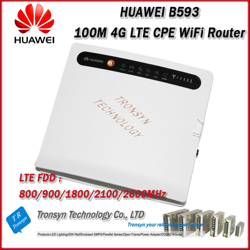 все цены на Wholesale Original Unlock 100Mbps HUAWEI B593 4G LTE CPE Wireless Router With Sim Card Slot Support B1 B3 B7 B8 B20