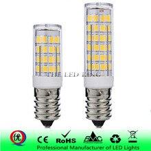 E14 Светодиодный светильник лампа 7 Вт 9 Вт 12 Вт 220 в 230 В SMD керамическая лампа Замена 40 Вт 60 Вт 80 Вт галогенная лампа для свечей хрустальная люстра холодильник