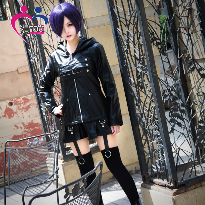 Hot Anime Tokyo Ghoul Cosplay Kirishima Touka Male and female uniforms Cos Halloween Party Cos uniform battle suit PU Costume