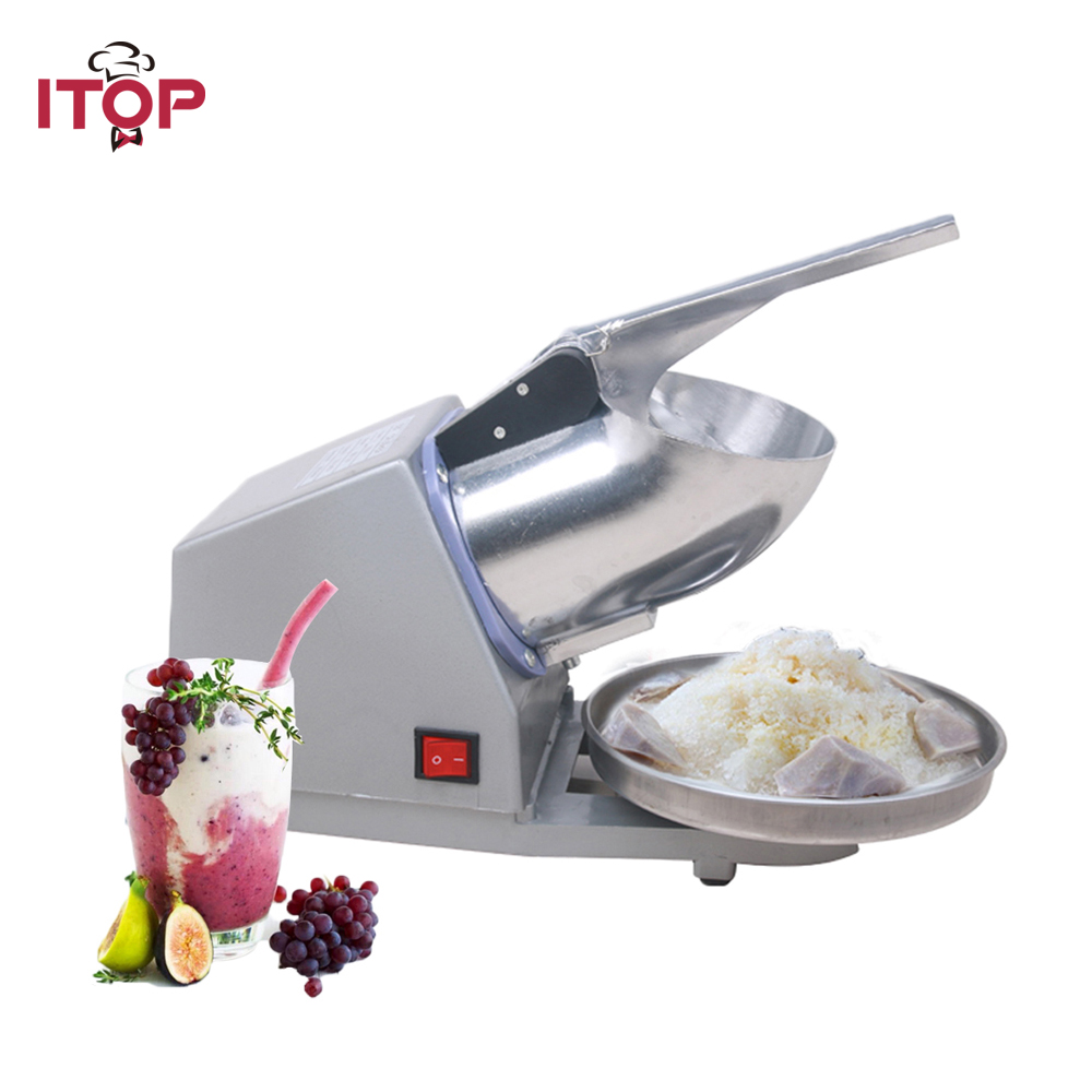 ITOP Small Ice Maker Ice Shaver Machine Electric Snow Cone Maker Stainless Steel Shaved Ice Machine edtid new high quality small commercial ice machine household ice machine tea milk shop