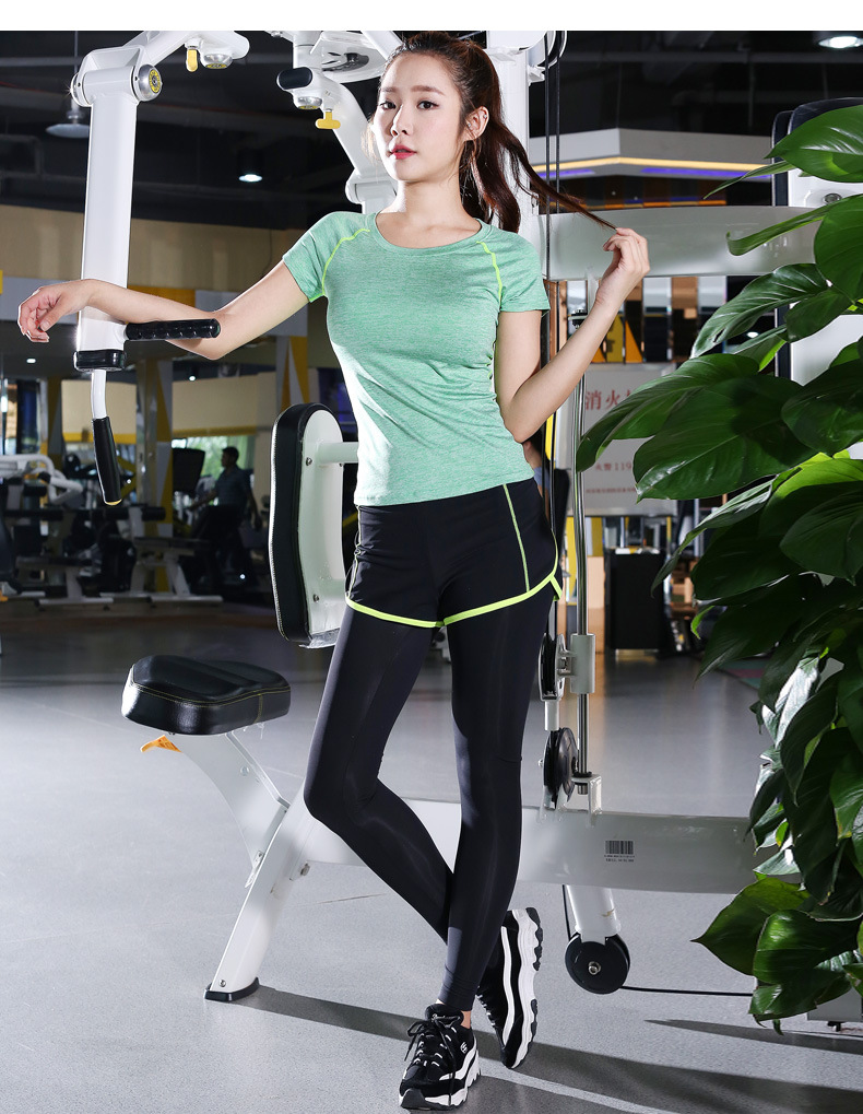 Free shipping Two-Piece Sport Pants Set Elastic Slim Fitness Kit Quick-Dry T-Shirt Short Sleeve Running Yoga Wear 4FYG1085 1  Free shipping Two-Piece Sport Pants Set Elastic Slim Fitness Kit Quick-Dry T-Shirt Short Sleeve Running Yoga Wear 4FYG1085 HTB1gsW