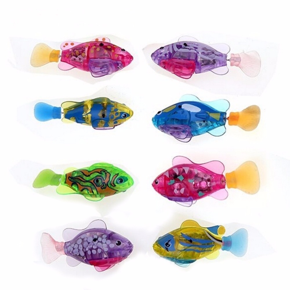 2019 Electronic Fish  Activated Battery Powered Fish Toy Children Robotic Pet Holiday Gift Can Swims Fishes Electronic Pets