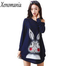 67b4e6797b4a Kawaii Dress Sexy Lolita Autumn Winter Dress Women Vestidos Off Shoulder  2017 Korean Harajuku Loose Dresses Christmas Robe Femme