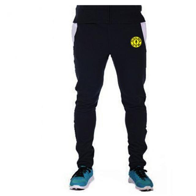 2016 Venta Caliente Superior de Peso Medio Mediados Plana Culturismo Pantalones Hombres Casual Algodón Elaborar Pantalones Pantalon Homme