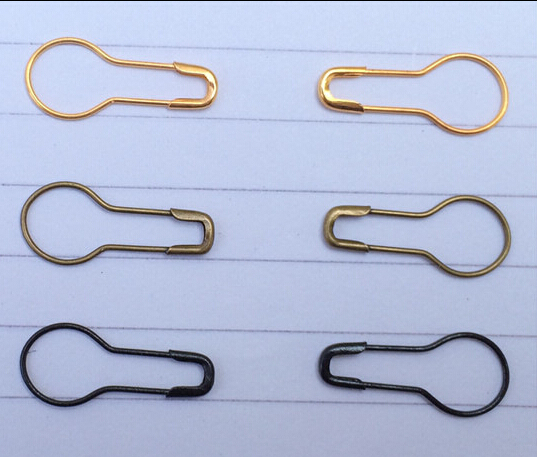 1000pcs 2.2cm/22mm colored small gold/black/Bronze Gourd-shaped hijab stainless steel safety pins pins needles free shipping