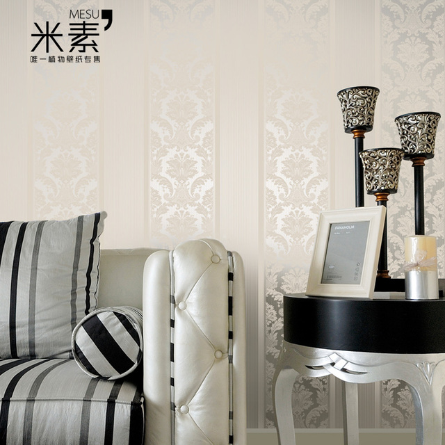 2014 Damascus woven beige minimalist living room bedroom wallpaper paved Specials