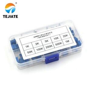 3296 Вт многооборотный Подстроечный резистор потенциометра набор высокой точности 3296 переменный резистор с бесплатной коробкой электронный...