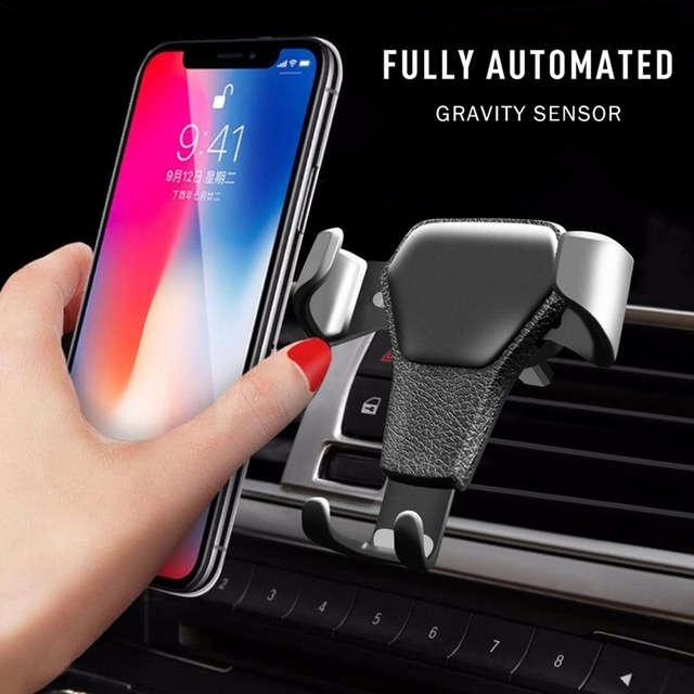 Universal Car Phone Holder Gravity Car Air Vent Mount In Car For Iphone X 8 Samsung Xiaomi One hand Operate Phone Stand Bracket 1
