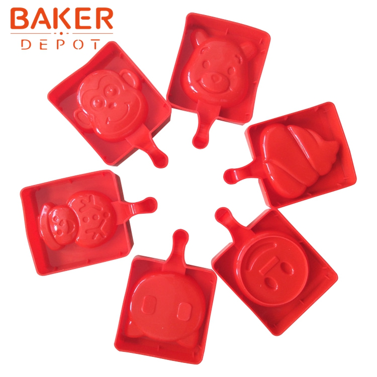 BAKER DEPOT Silicone Molds for icecream ice cube DIY chocolate tools candy pudding molds CDSM-707
