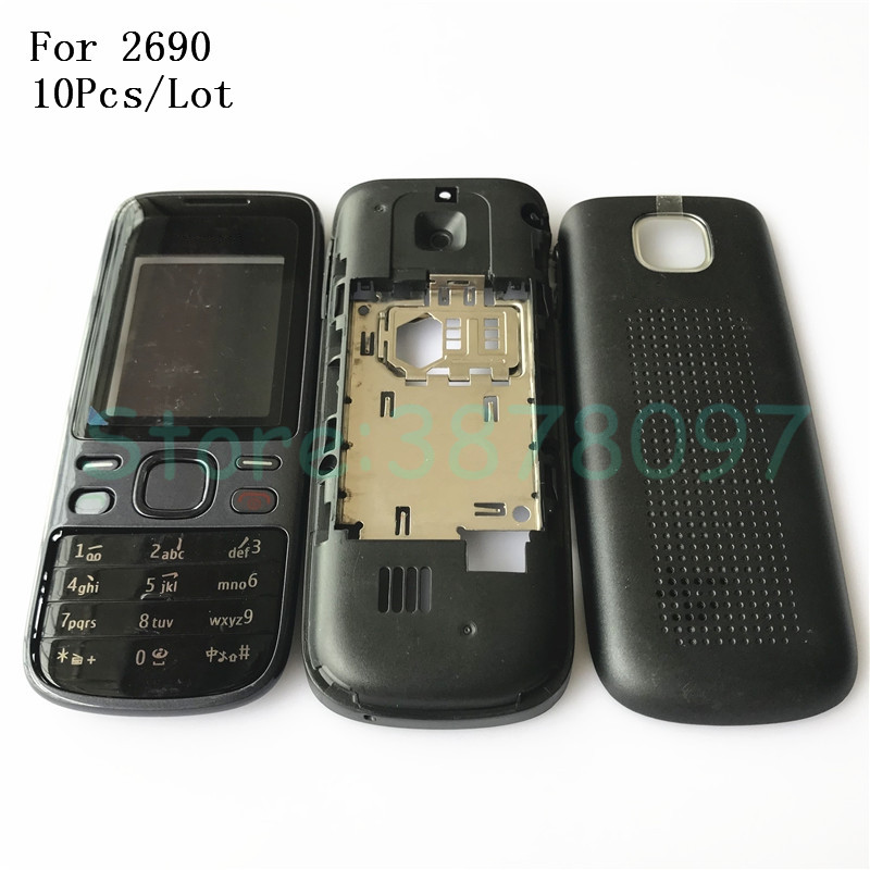 Detail Feedback Questions About 10Pcs Lot New Full Housing For Nokia 2690 Front Faceplate Frame Cover Case Back Battery Door Keypad Logo
