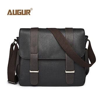 14ea75d03 Bolso de hombro de cuero y lona para hombre, bolso de mensajero de  negocios, bolso de viaje, informal, a prueba de agua, para hombre, bolso de  viaje