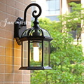 European Style Wall Lamp Garden Courtyard Lamps Waterproof Outdoor Balcony Wall Light aluminum