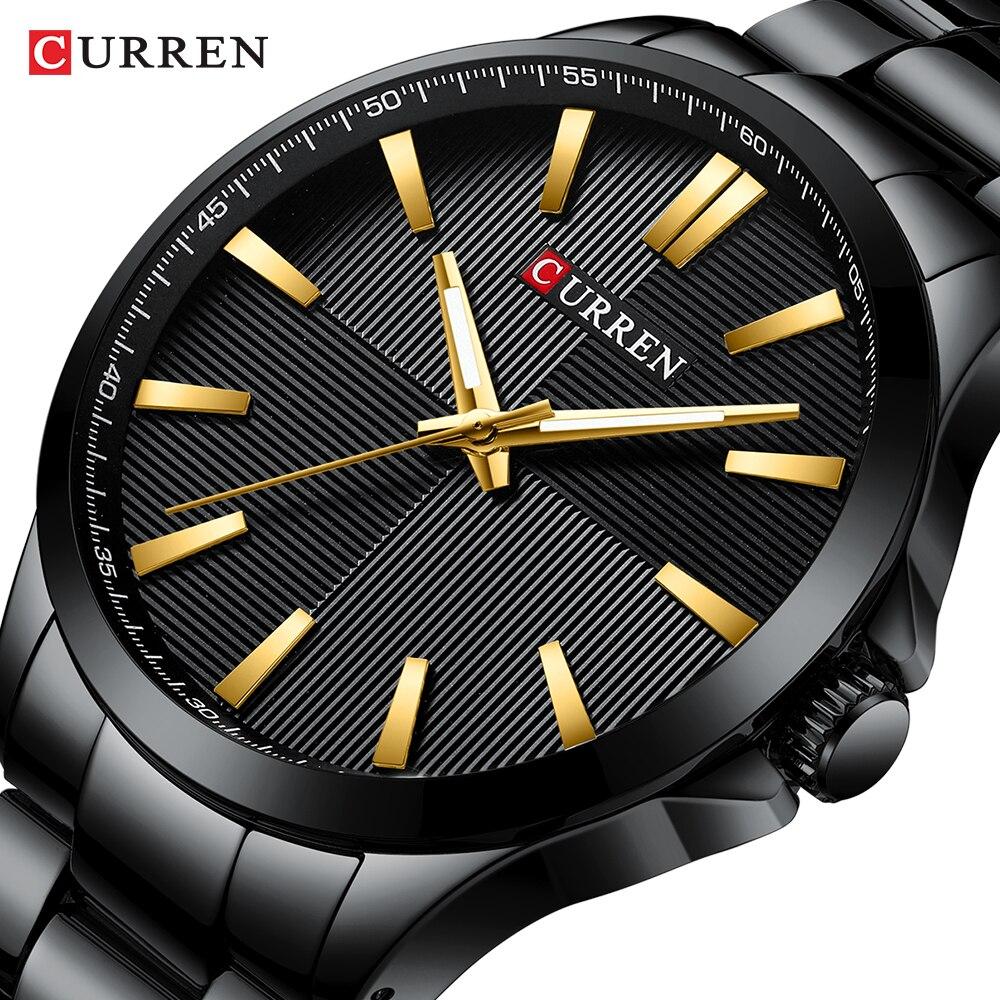 Homens Relógios 2019 Marca De Luxo Da Forma do Aço Inoxidável Dos Homens de Negócios Relógio de Pulso CURREN Homem 30 M Relojes Relógio À Prova D' Água