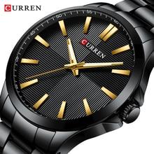 Męskie zegarki 2019 luksusowa marka ze stali nierdzewnej moda biznes mężczyzna zegarek CURREN zegarek człowiek zegar wodoodporny 30 M Relojes
