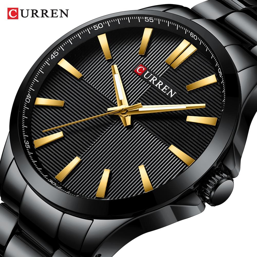 Men Watches 2019 Luxury Brand Stainless Steel Fashion Business Mens Watch CURREN Wristwatch Man Clock Waterproof 30 M Relojes