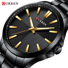 Men Watches 2019 Luxury Brand Stainless Steel Fashion Business Mens Watch CURREN Wristwatch Man Clock Waterproof 30 M Relojes(China)