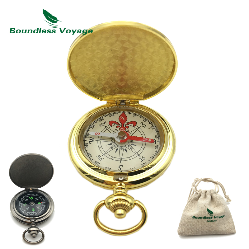 Boundless Voyage Outdoor Portable Camping Compass Multi-functional Mini Fluorescence Keychain Compass BVC01/BVC02