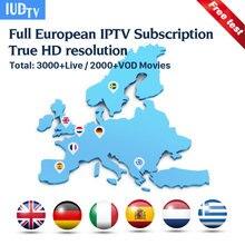 IPTV M3u Italia UK Spanish Greek Swedish IPTV IUDTV 1 Year Europe IPTV Subscription Code for Android M3u MAG25X Enigma2 Italia цены