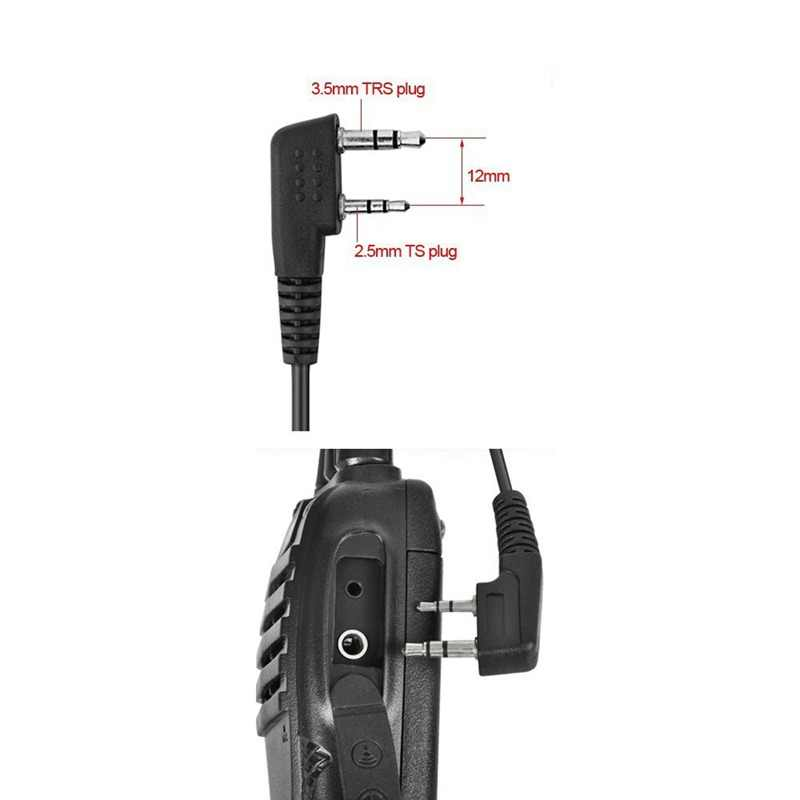 2 دبوس PTT MIC سماعة سرية الصوتية أنبوب في الأذن سماعة ل كينوود TYT Baofeng UV-5R BF-888S CB راديو اكسسوارات