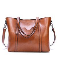 2018 Oil Wax Women Bag Fashion Leather Handbags Large Capacity Lady Hand Bags Women Messenger Bag