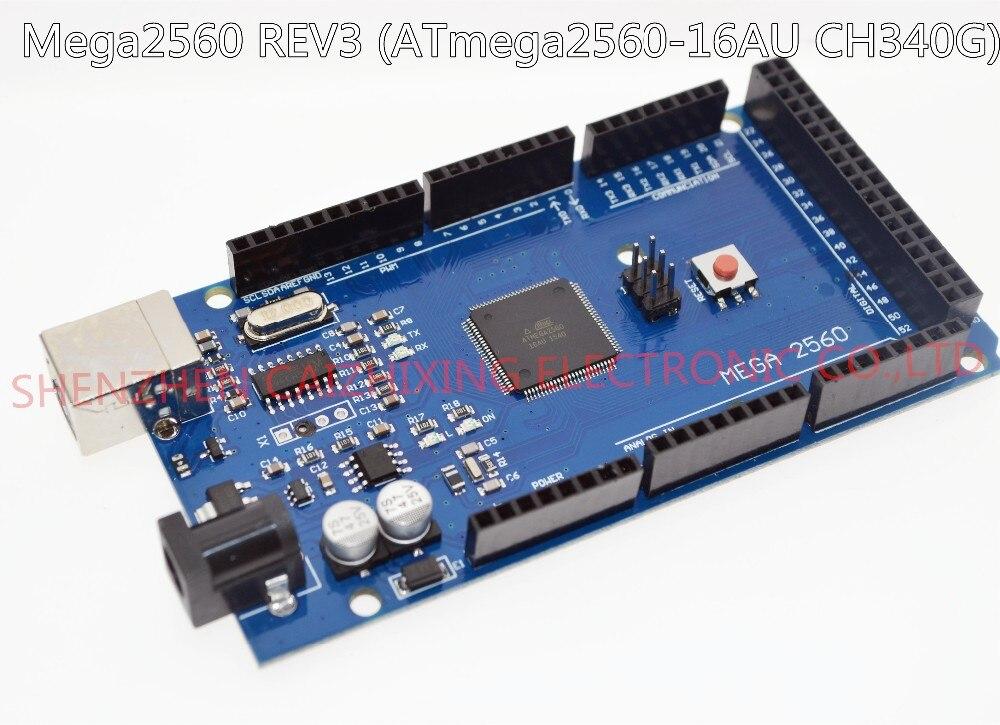 Mega 2560 R3 Mega2560 REV3 (ATmega2560-16AU CH340G) carte sur câble USB compatible pour arduino [pas de ligne USB]