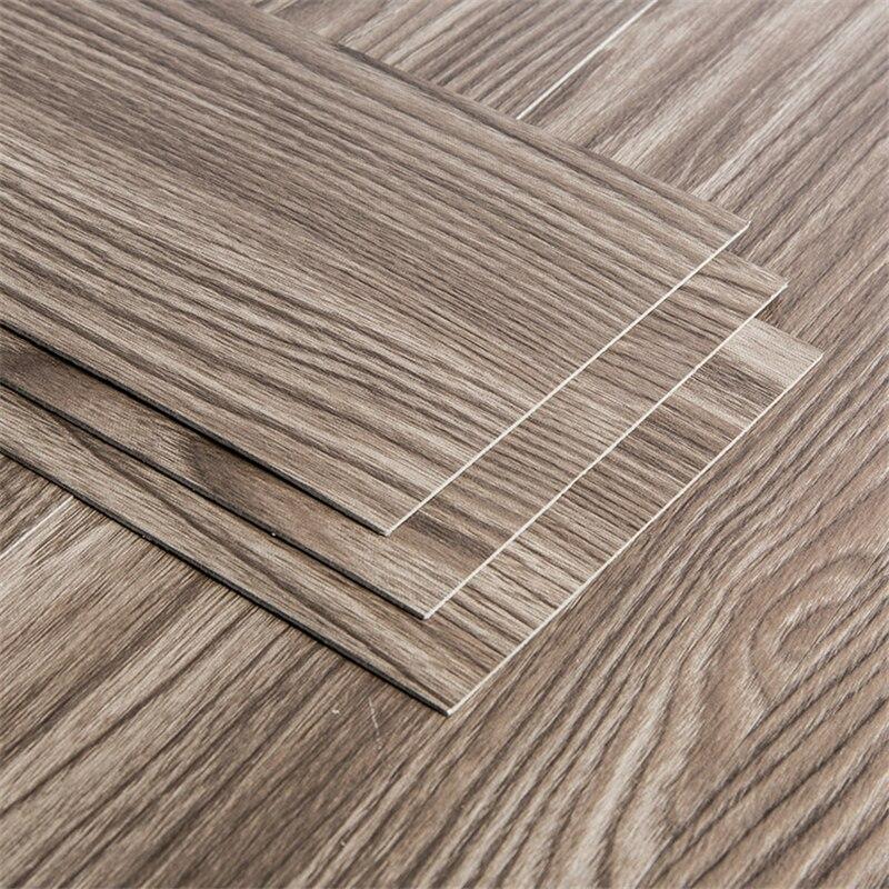 Beibehang Household Wood Grain Self-adhesive Floor PVC Plastic Floor Leather Flame Retardant Wear-resistant Stone Plastic Floor