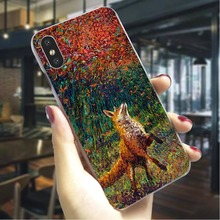Fox cunning Hard Case for iPhone 6S Pattern Phone Cover for iPhone 6 Plus 6S Plus 7 7 Plus 8 8 Plus X Cases Skin motomo brushed aluminum middle skin hard pc cover for iphone 6s plus 6 plus gold