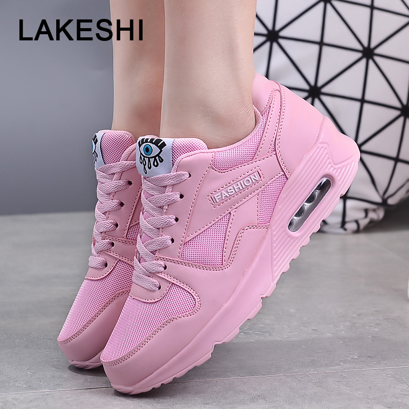 Women Sneakers Big Size Women Shoes Lace-Up Platform Sneakers Outdoor Walking Casual Ladies Shoes Spring Flats Sneakers Shoes