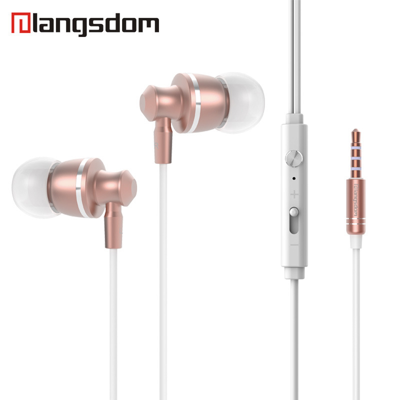 langsdom Metal M300 Volume Control Earphone Bass Gaming Headset with Microphone Earphone for Smart Phone Computer fone de ouvido langsdom r9c in ear earphone for phone stereo hifi earphones with microphone headset for phone fone de ouvido earbuds