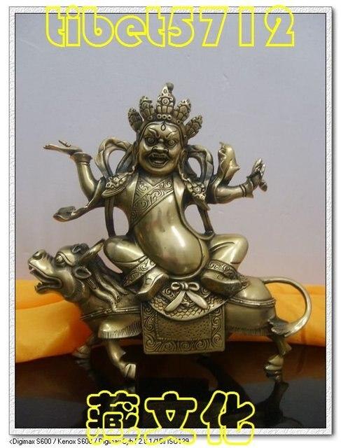 Tibetan Buddhist bronze KUBERA EINZIGARTIG buddha statue 20 cm 1.4 KG  free shipping